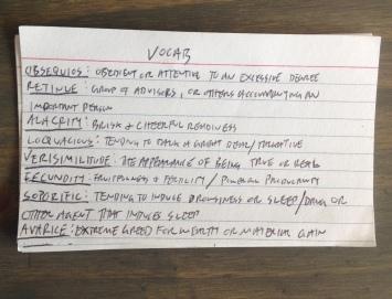 vocab note